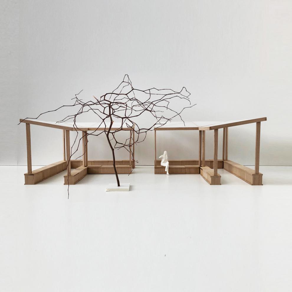 Andrum, fysisk modell i trä. Nyréns modellverkstad