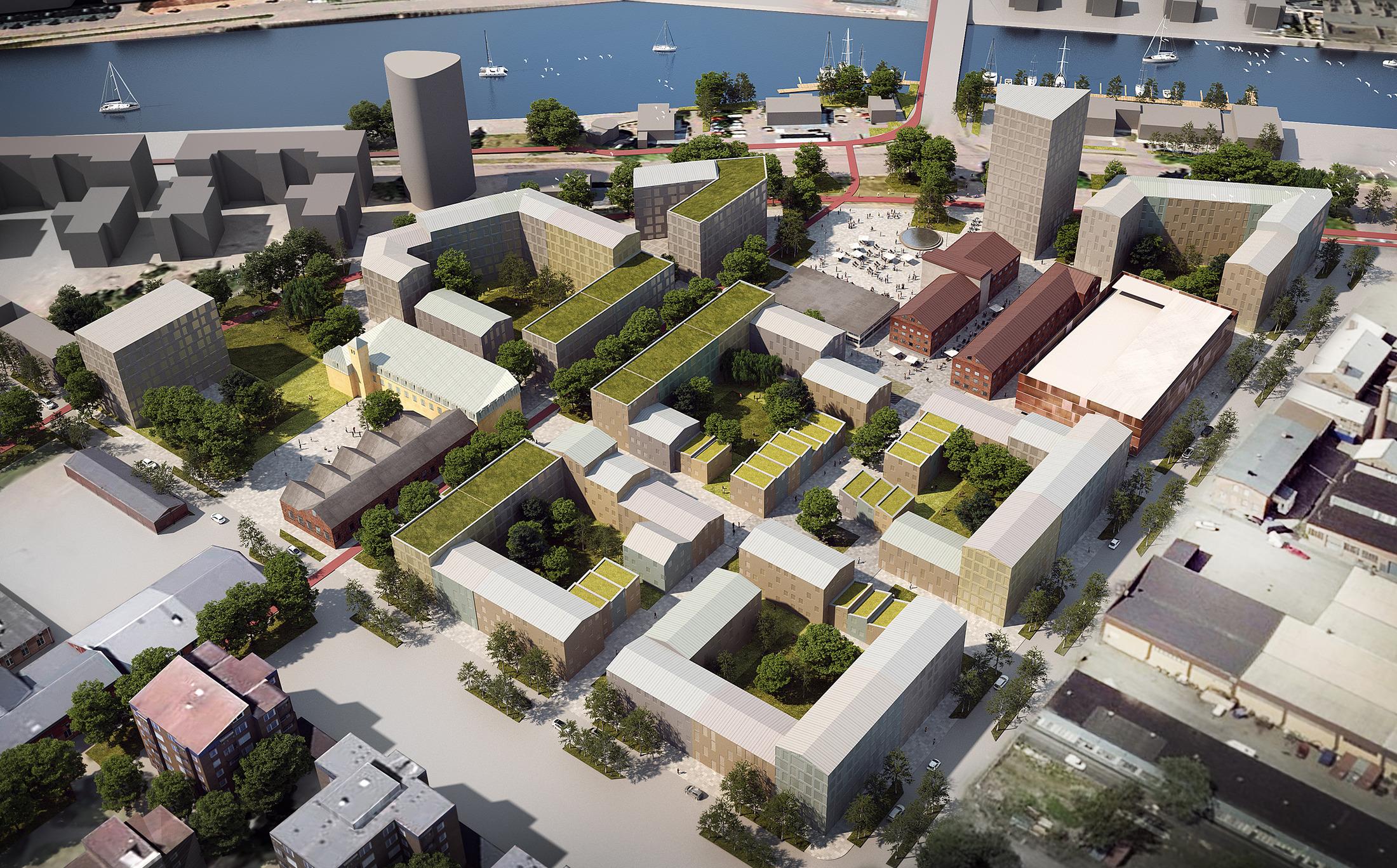 Strukturplan över Godisfabriken i Gävle