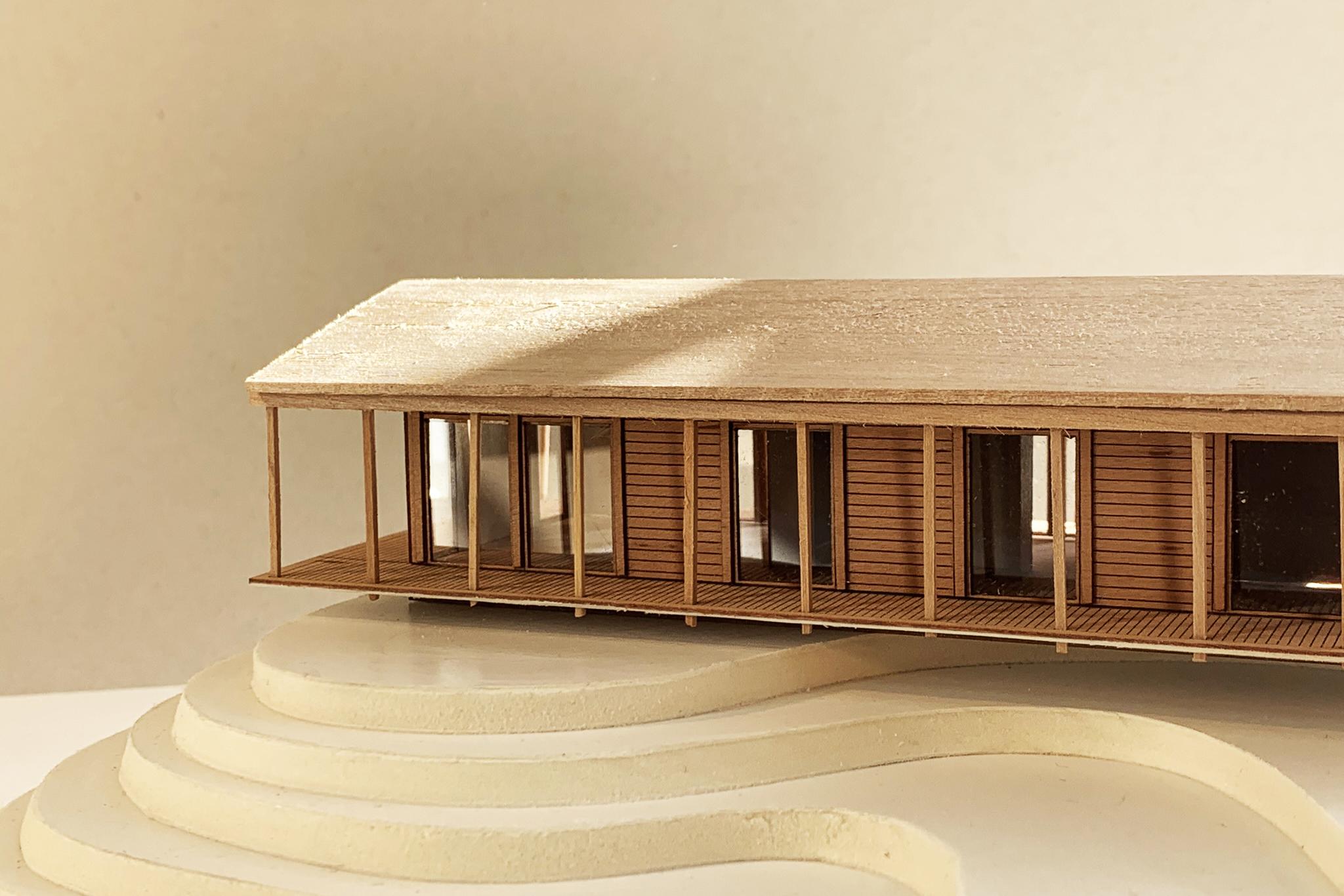 Fysisk modell i trä, Djurö. Nyréns modellverkstad