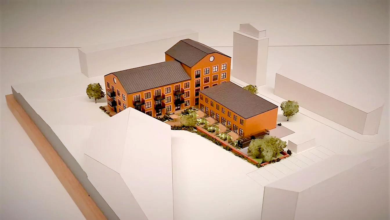 Fysisk modell av bostäder i Stallet, Nyréns modellverkstad