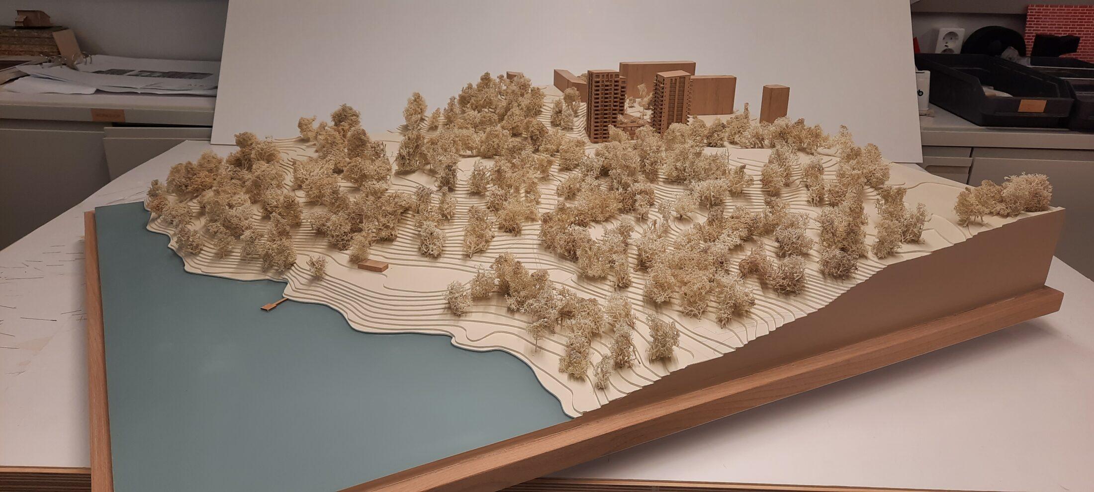Fysisk modell av Vårfrugillet, Nyréns modellverkstad